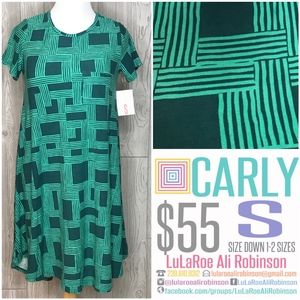 LuLaRoe Carly - Size S - Green - NWT